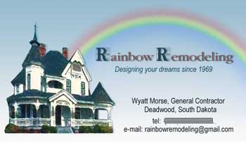 Rainbow Remodeling's Business Card