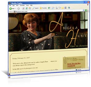 Redesigned website for author Angela Hunt