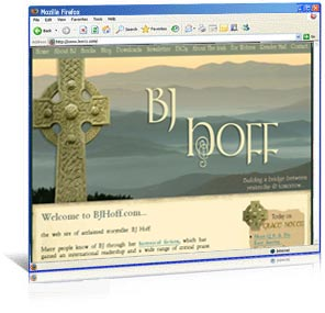 Custom WordPress design for author BJ Hoff