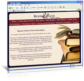 Books & Such Literary Agency  website redesign