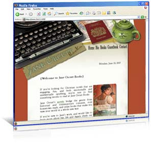 Web site design for author Jane Orcutt
