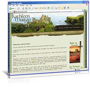 Web site re-design for Kathleen Morgan