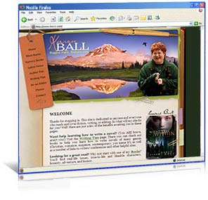 Web Site Redesign for Author Karen Ball