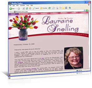 Professional website design for author Lauraine Snelling