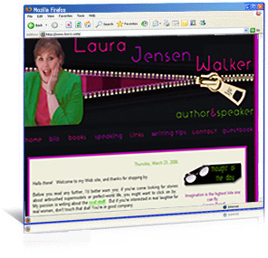 Laura Jensen Walker website redesign
