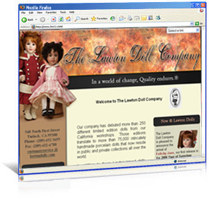 Lawton Dolls website redesign