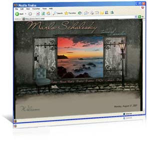 Custom web site design for author Marlo Schalesky