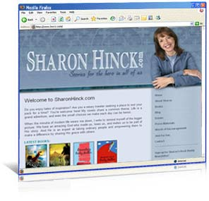 Website re-design for author Sharon Hinck