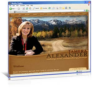 Web site redesign for historical author Tamera Alexander