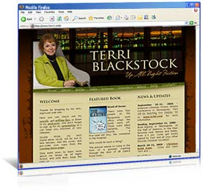 Web site design for author Terri Blackstock